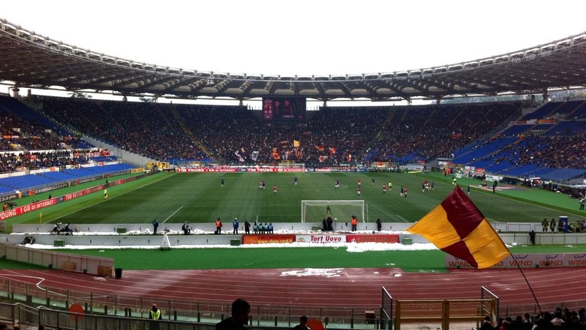AS Roma 4 Inter Milan 0 Stadio Olimpico