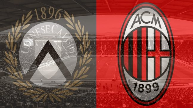 Udinese vs. Milan, Serie A