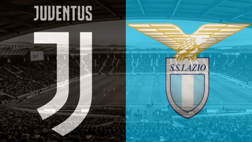 Juventus and Lazio club crests