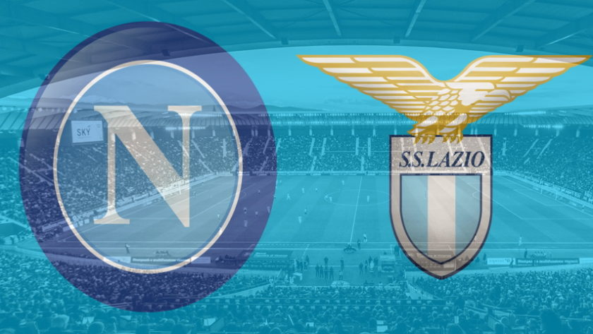 Napoli and Lazio club crests