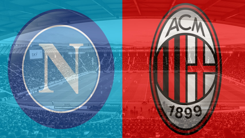 Napoli and Milan club crests