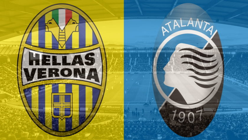 Hellas Verona and Atalanta club crests