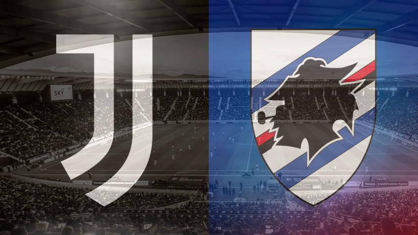 Juventus and Sampdoria club crests ahead of their Serie A fixture on September 20