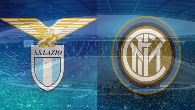 Lazio and Inter club crests ahead of their Serie A fixture on October 4
