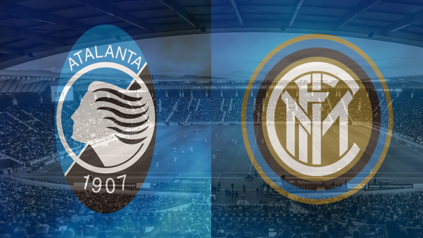 Atalanta and Inter club crests ahead of their Serie A fixture