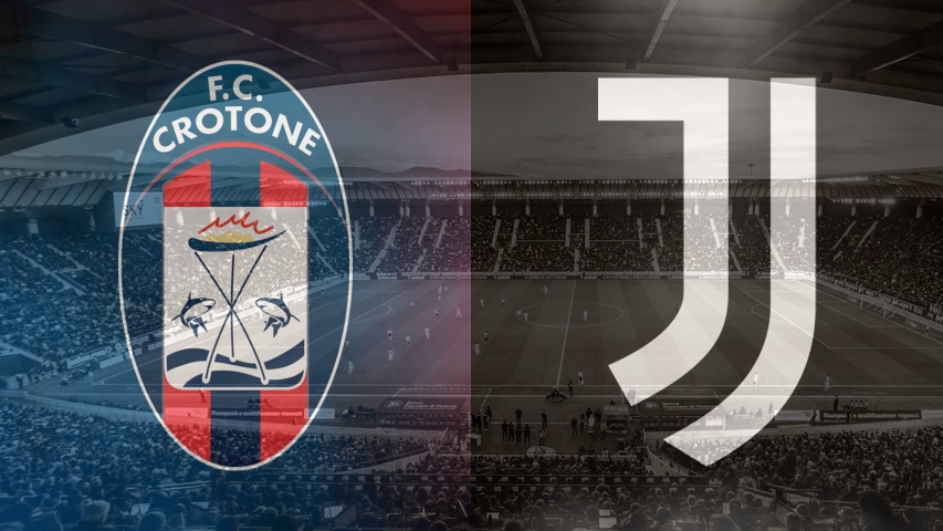 Crotone and Juventus club crests ahead of their Serie A fixture