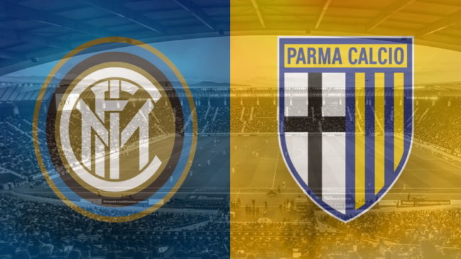 Inter and Parma club crests ahead of their Serie A fixture