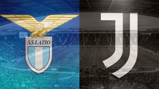 Lazio and Juventus club crests ahead of their Serie A fixture