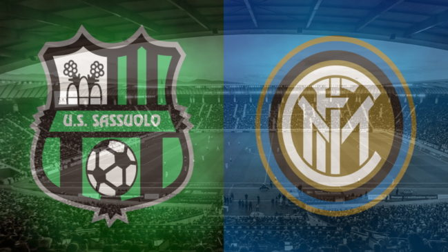 Sassuolo and Inter club crests ahead of their Serie A fixture