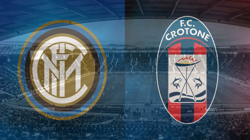 Inter and Crotone club crests