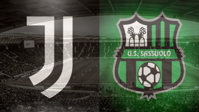 Juventus and Sassuolo club crests