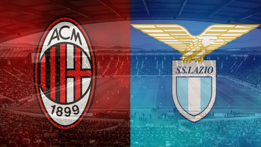 Milan and Lazio club crests