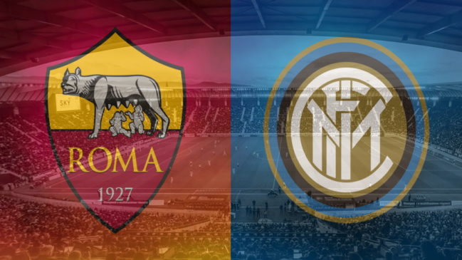 Roma and Inter club crests