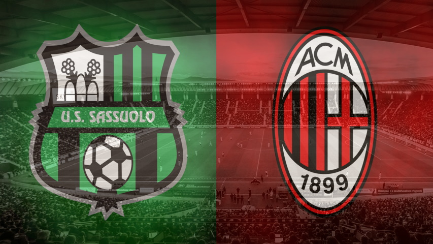 Sassuolo and Milan club crests