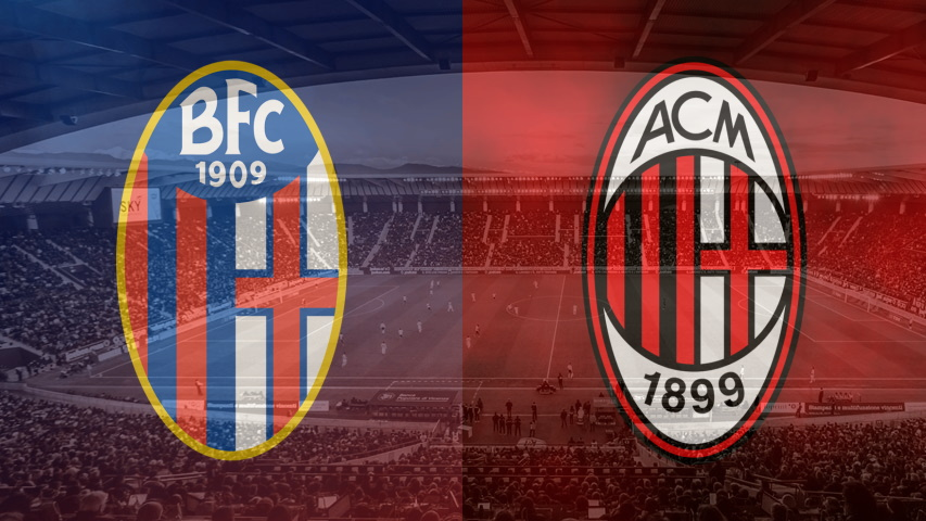 Bologna and Milan club crests