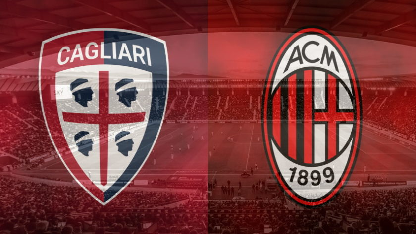Cagliari and Milan club crests