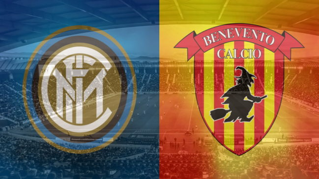 Inter and Benevento club crests