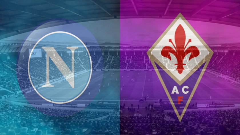 Napoli and Fiorentina club crests