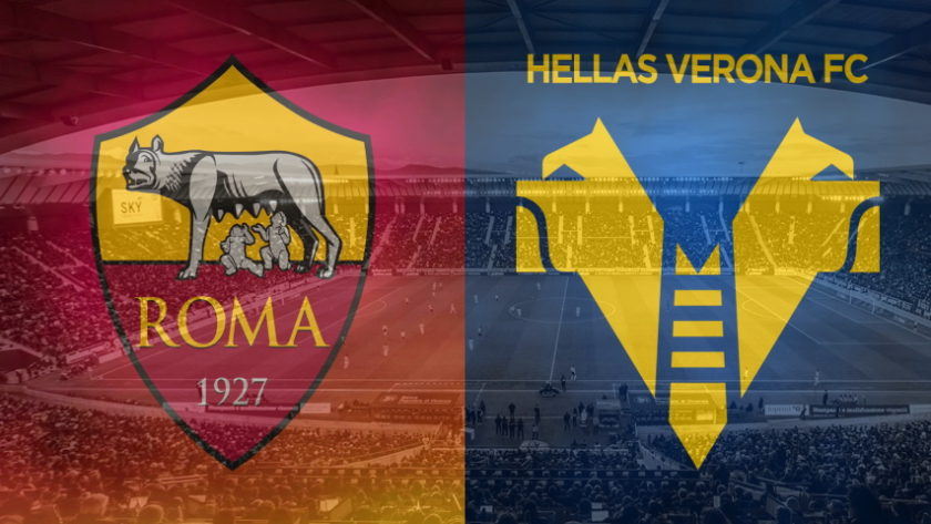 Roma and Verona club crests