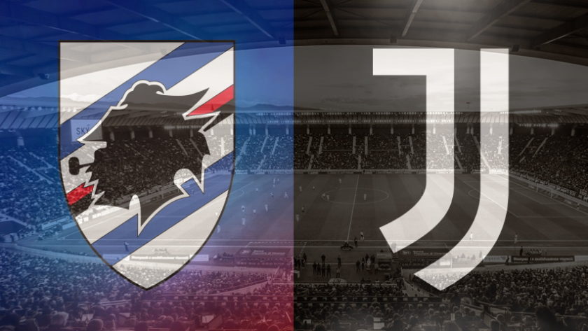 Sampdoria and Juventus club crests