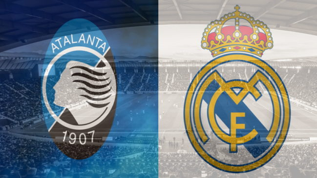 Atalanta and Real Madrid club crests