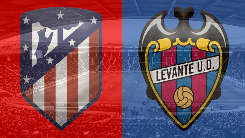 Atletico Madrid and Levante club crests