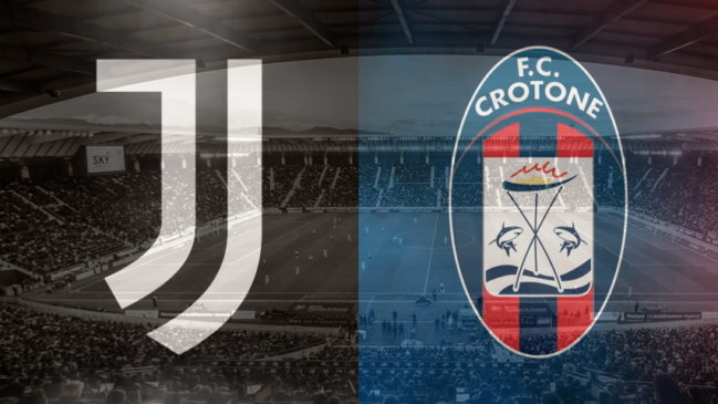 Juventus and Crotone club crests