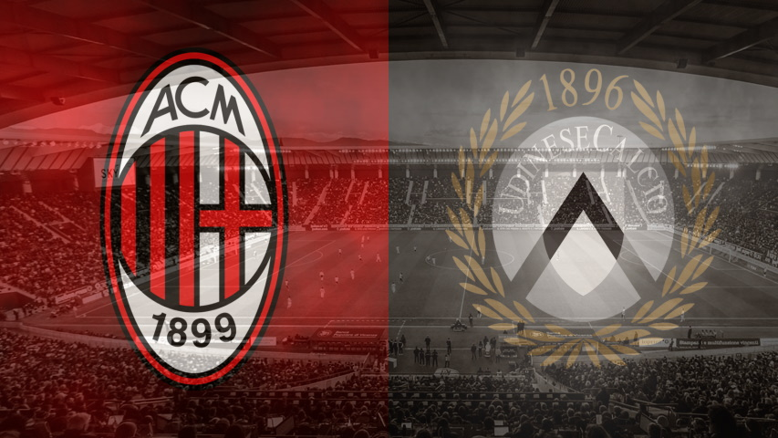 Milan and Udinese club crests
