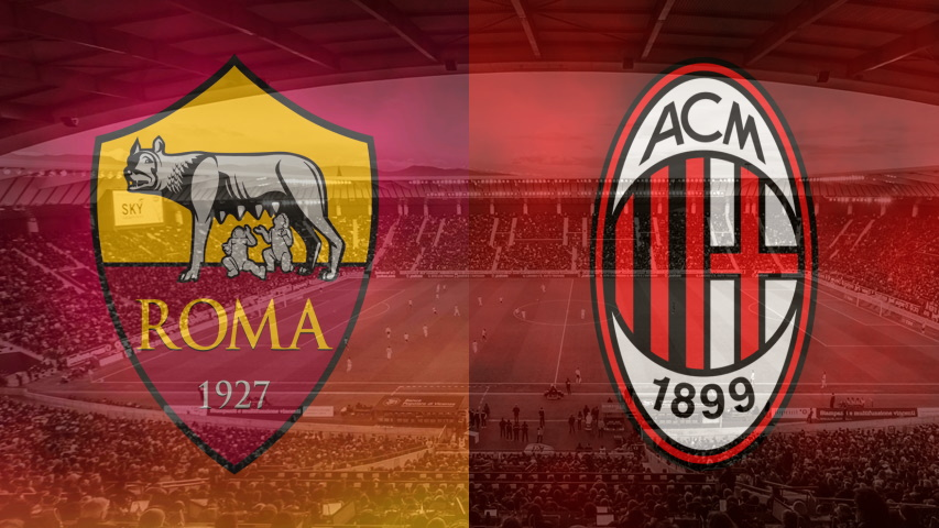 Roma and Milan club crests