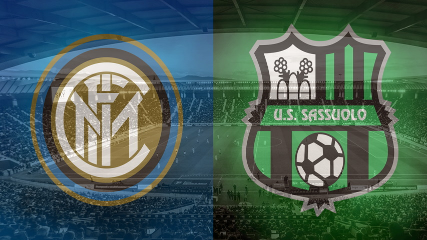 Inter and Sassuolo club crests