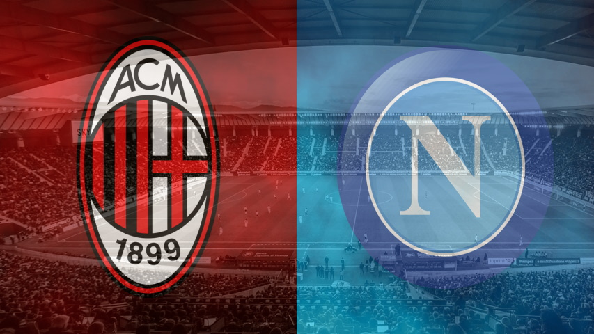 Milan and Napoli club crests
