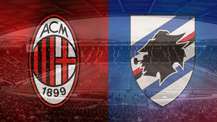 Milan and Sampdoria club crests