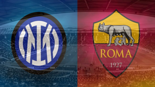 Inter and Roma club crests