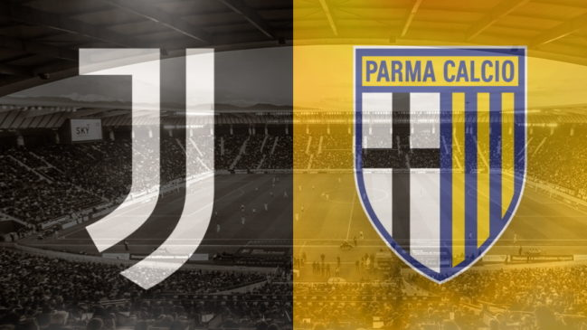 Juventus and Parma club crests