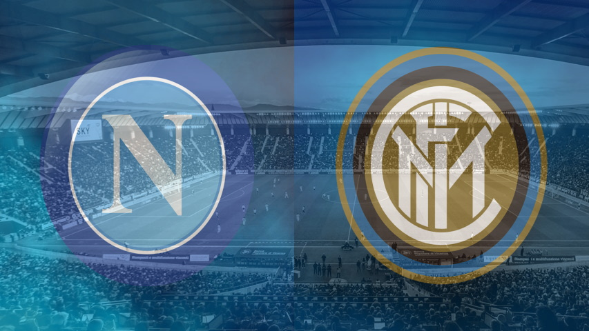 Napoli and Inter club crests