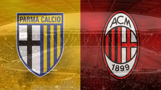 Parma and Milan club crests