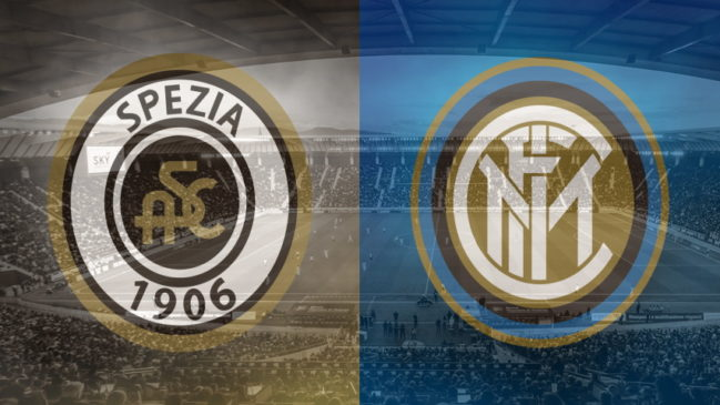Spezia and Inter club crests