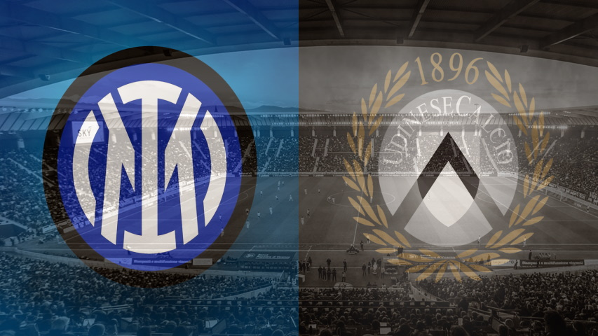 Inter and Udinese club crests