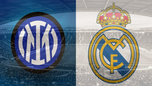Inter and Real Madrid club crests