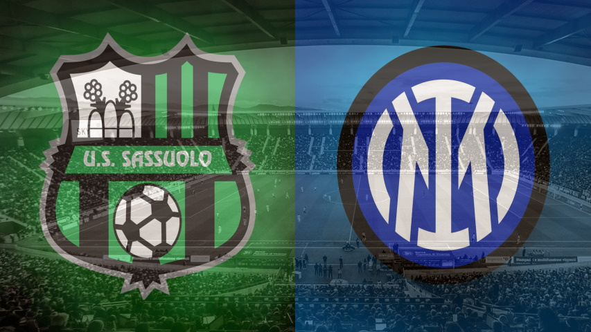Sassuolo and Inter club crests